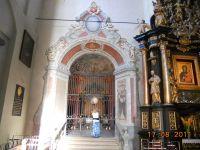 Odrestaurowane w 2011 i odsłonięte wejście do kaplicy
