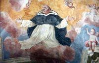 Święty Jacek w chwale nieba