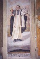 Święty z Najświetszym sakramentem i figurą Matki Bożej