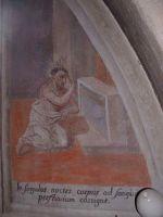 Święty podczas modlitwy