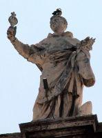 Święty Jacek na Kolumnadzie Berniniego, plac św. Piotra, Rzym