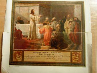Pamiatka I Komunii św przyjętej w Kaplicy św Jacka w kościele św Mikołaja w Gdańsku w 1930r