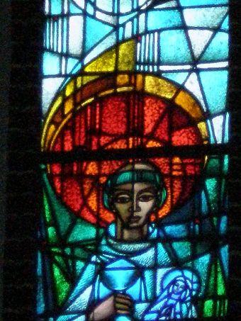 Witraż św. Jacka w kościele w Sopocie