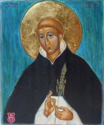 Ikona św. Jacek z kłosem napisana przez Ewę Pikul
